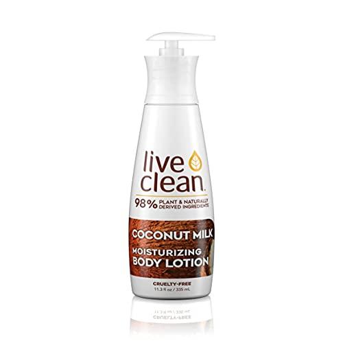 Live Clean Coconut Milk Moisturizing Body Lotion, 17 oz.