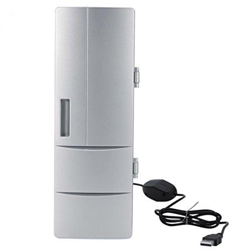 QIHANGCHEPIN Tragbare Mini USB PC Laptop Kühlschrank Kühler PC Kühlschrank Wärmer Kühler Getränke Getränk Dosen Gefrierschrank Bierkühler