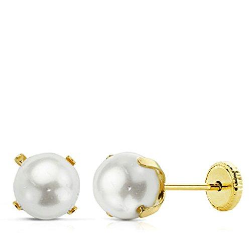 Pendientes Bebé/Niña Oro 18 ktes Perla Cult Tamaño 4 mm