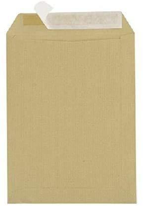 Lot de 500 Grande enveloppe pochette courrier A4 - C4 papier kraft MARRON 90g format 229 x 324 mm Pochette kraft brune auto-adhésive fermeture bande adhésive autocollante siliconée UGENVC4M