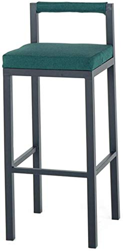 NYDZ Banqueta de Bar, Comedor Sillas Inicio Decoración Muebles - Metal Taburete con Ropa de Asiento- Contador - rústico Elegante Verde