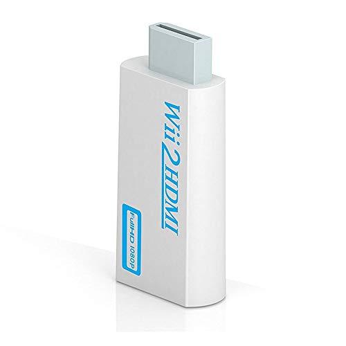 Convertidor Adaptador Wii a HDMI, HOTSO Wii2HDMI, Converter Adapter Wii to HDMI Conversor de Audio de 3.5mm de Vídeo a HDMI 720P 1080P HD para Wii(NTSC,PAL 480i,480p,576i)/Smart HDTV/Monitor P