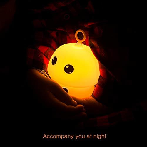 YCEOT Pilz führte Nachtlicht mit SchlüsselbundBunte USB-Silikon Nachttischlampe Warnlicht für Kinder Fahrradtasche