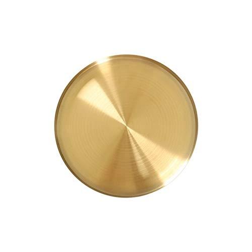Cajas de almacenamiento de acero inoxidable con bandeja dorada redonda de joyería de alimentos, anillo de almacenamiento para el hogar, bandeja de té, organizador (color: 20 cm)