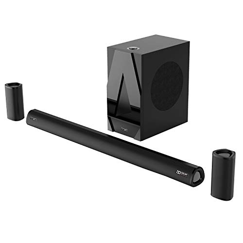 boAtAAVANTEBar 3100D260W5.1 Channel BluetoothSoundbarwith Dolby Digital/Digital Plus,Wired Subwoofer, Multiple Connectivity Modes, Entertainment Modes, Premium Finish and Bluetooth V5.0