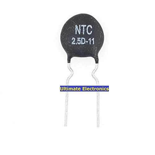 100pcs Thermistor Branded goods Max 40% OFF NTC2.5D-11 2.5D-11 Diameter 2.5D11 Negati 11MM