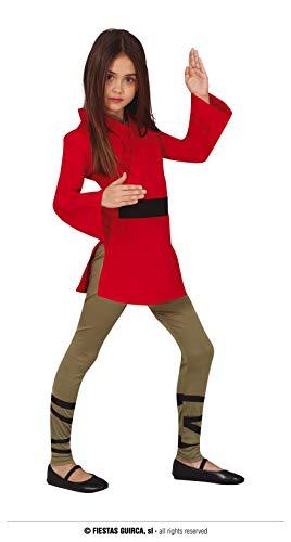 FIESTAS GUIRCA Disfraz de guerrera Ninja para nia de 7 a 9 aos