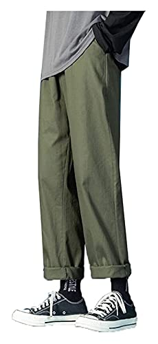 DOUYUAN Pantalón Cargo de Punk Pant Hombres Hip Hop Jogger Harem StreetwearTousers Hombres Casual Harajuku Swears Pantalones de Verano (Color : Army Green, Size : S)