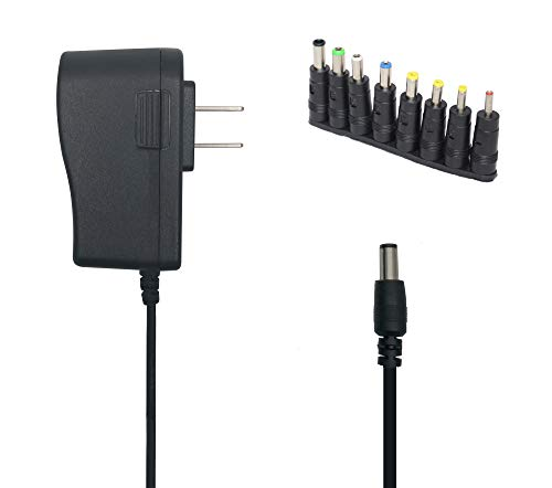 Excelity AC-DC 5V 1A Wall Charger Power Adapter with Plug 5.5 x 2.5mm / 5.5 x 2.1mm