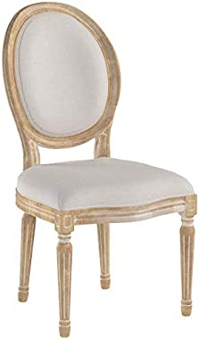 Christopher Knight Home Phinnaeus Beige Fabric Dining Chair (Set of 2), 2-Pcs Set