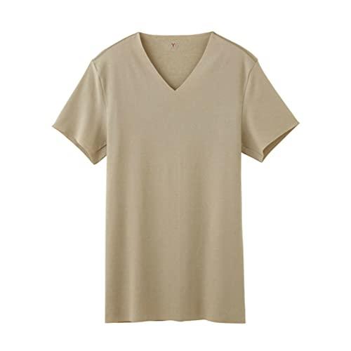 [グンゼ] インナーシャツ YG CUT OFFシリーズ VネックTシャツ YV1515 メンズ NEWクリアーベージュ 日本M (日本サイズM相当)