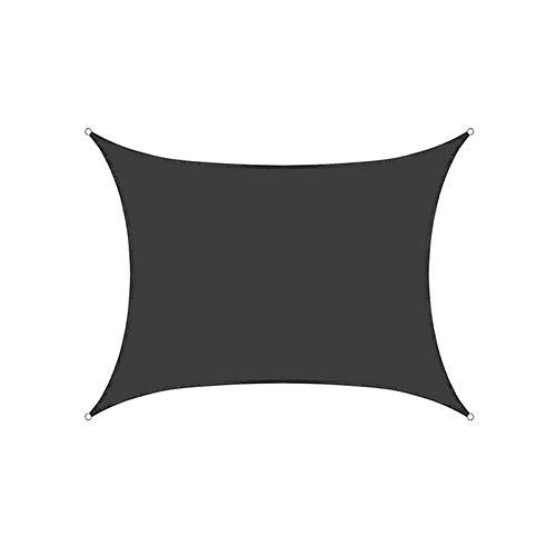 CH-GTJ Toldo Vela De Sombra Rectangular, Protección Rayos UV, Toldo Resistente E Lmpermeable, Exteriores, Jardín,Negro,2.5X2.5m