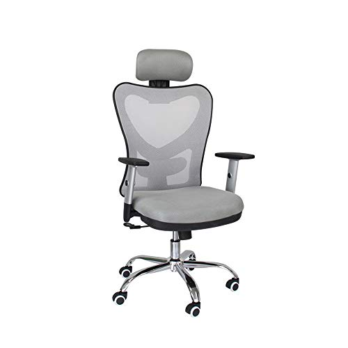HOLPPO-Desk Einstellbare Breathable Ineinander greifen Boss Stuhl Bearing Gewicht 150kg Schreibtisch Stühle Stuhl Mesh-High Back Swivel Bürostuhl Kopfstütze und Höhe (Color : Gray)