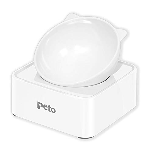 UPSKY Peto Cat Dog Bowl Raised Cat Food Water Bowl with...
