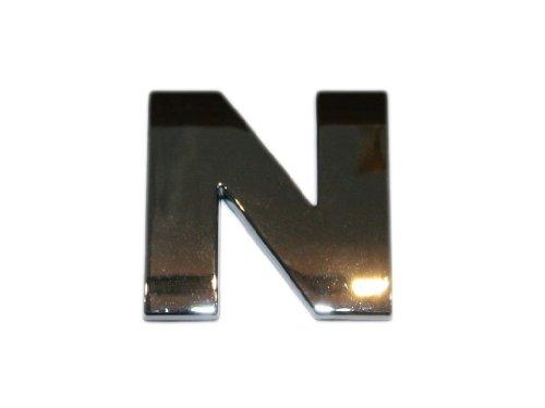 3D Chrombuchstabe N