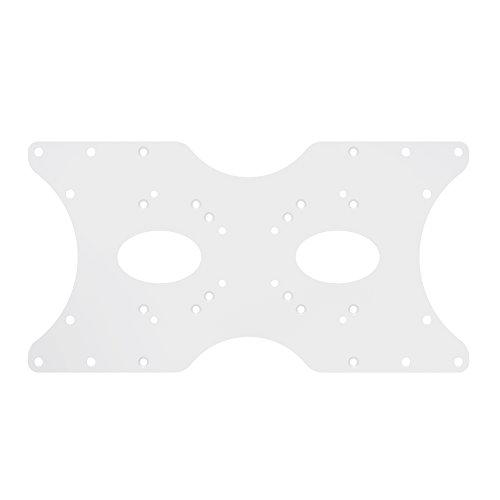 PureMounts ADAPT-B Piastra adattatore VESA universale per allargare le distanze VESA, ingrandisce VESA 50x50 fino a 400x200, max. 30 kg, bianco
