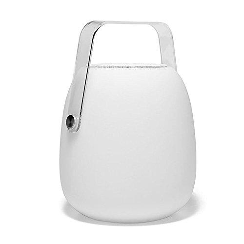 Altoparlante SO PLAY, Bluetooth, WiFi, a LED bianco/multicolore dimmerabile, altezza 30 cm, con telecomando.