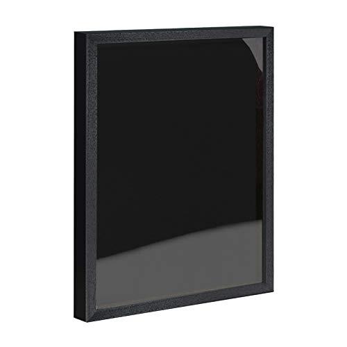 Objektrahmen 1,5 cm tiefer Bilderrahmen aus Massivholz VARIO36 inkl. Gratis Zugabe 60x80 cm Schwarz matt (lackiert)