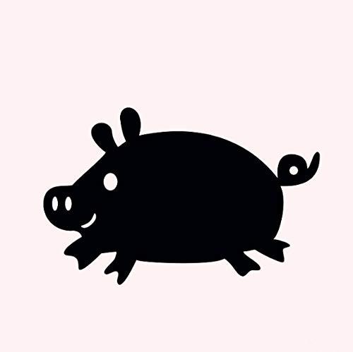 Wandtattoo, Motiv: Schwein, Kreidetafel, abnehmbar, für Kinderzimmer, 91 x 58 cm