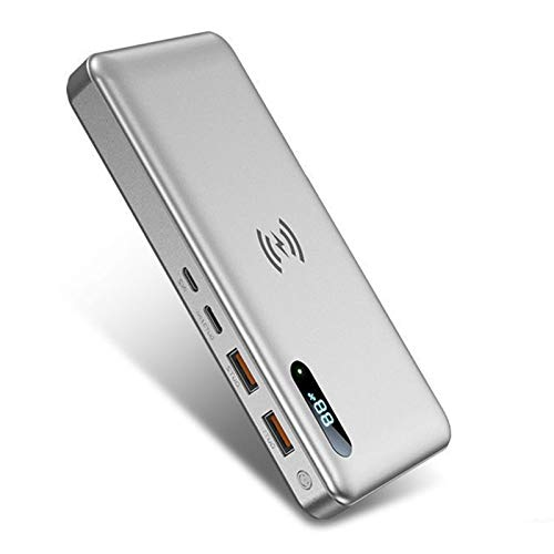 Powerbank 30000Mah Power Bank Cargador Móvil Portátil Bateria Externa Movilbatería Externa Carga Rapida PD 65W para Dispositivos Inteligentes Y Más, con Pantalla LED