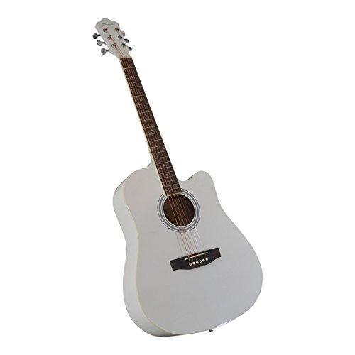 Westerngitarre HKL Acandoo weiß Acoustik Gitarre 4/4 mit Tasche