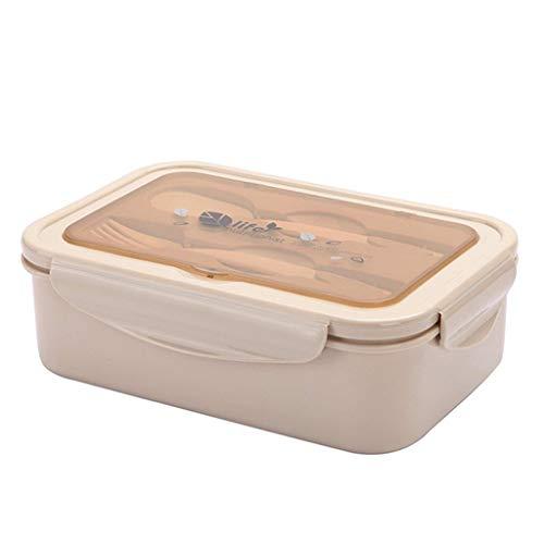 Serria® Mikrowelle Lunchbox Japanisches Bento Box 2 Lagen Container Lagerung Tragbar Bento Lunchbox Mikrowelle Heizung für Kinder Halten Essen Frisch Brotdose, Khaki