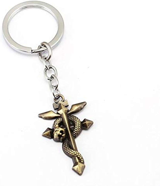 Mct1212pcs lot Fullmetal Alchemist Keychain Cross Charm Key Chain Men Key Ring Holder Anime Chaveiro Pendant Jewelry Souvenir