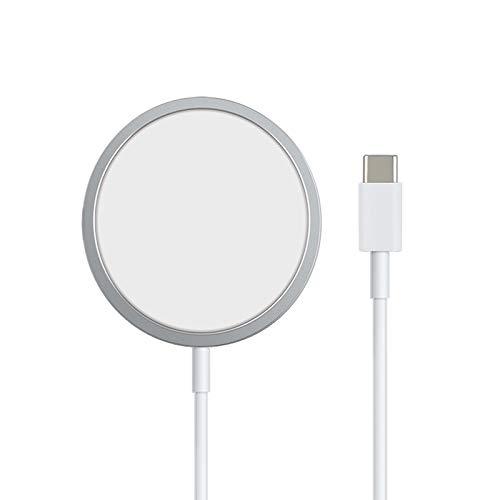 MEALINK Magnetisch Wireless Charger, Phone 12 kabelloses Ladegerät mit automatischer Adsorption, 15W USB C Ladestation für Phone 12 Pro Max/12 Pro/12 Mini/12/11 Seris, Airpods Pro