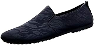 Stylish Modern Art Men Slip-on Loafers Feather-light Designer Shoes
