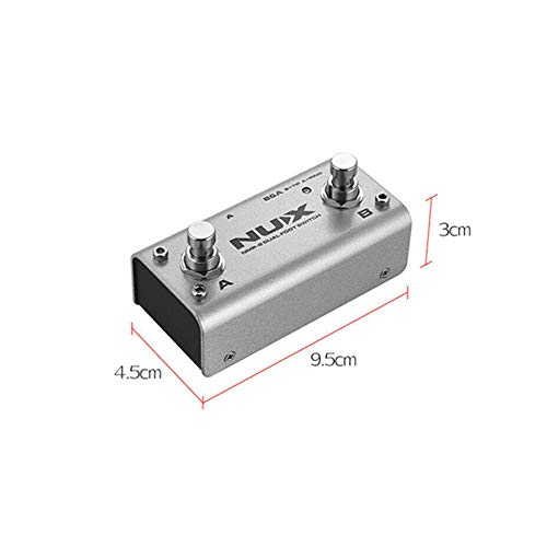 OUYAWEI Erelectronics NUX NMP-2 Dual FootSwitch for Keyboard Modules and Effect Pedals