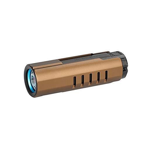 IMALENT LD70 4000 Lumen EDC Tactical Taschenlampe, CREE XHP70.2nd LEDs Wiederaufladbare Handleuchte für Outdoor-Camping Wandern Radfahren (BRAUN)