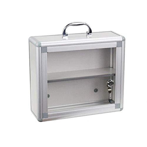 Armario Con Cerradura Con Puerta De Vidrio Artículos Para El Hogar Botiquín De Primeros Auxilios