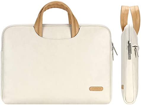 Arvok 15 15 6 16 Inch Water Resistant Premium Leather Laptop Sleeve with Handle Zipper Pocket product image