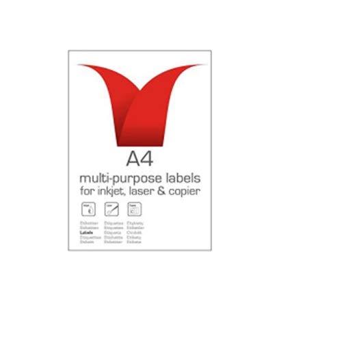 etichette multiuso bianco laser 2/etichette per foglio/ 103/x 292/mm /Confezione da 100 Stampiton