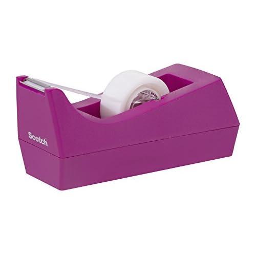 Scotch Dispenser Ricaricabile e1 Rotolo Nastro Adesivo 3M Magic Tape, 19 mm x 8.89 mm, rosa