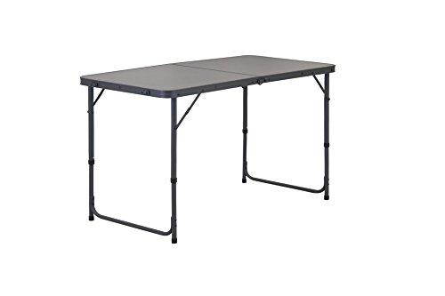 Portal Unisex– Erwachsene Miami Active Aluminium Campingtisch 120x60x70 cm großer Klappkoffertisch Gartentisch, Grau, 4-6 Personen