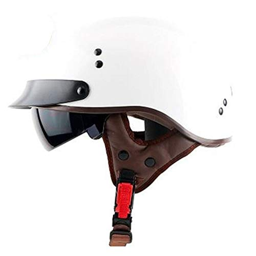 Brain Cap Half-Shell Jet Helmet Cap Racing Helmet Men's Bicycle Summer Helmet Retro Crash Protection Safety Protect Helmet ECE DOT Certified