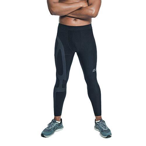 Gym Aesthetics | Leggings de compresión de apoyo para hombres, M, Negro