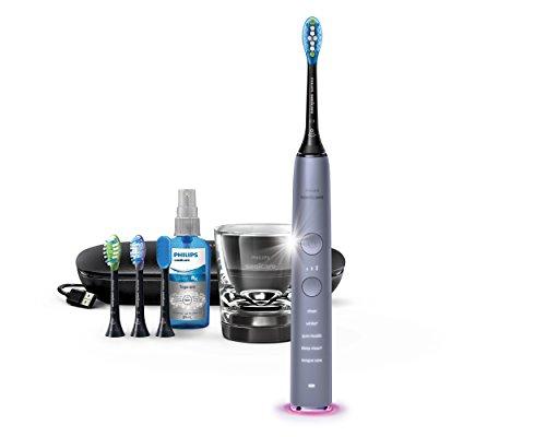 Philips Sonicare DiamondClean Smart Elektrische Tandenborstel HX9924/43 - Complete mondverzorging - Ingebouwde bluetooth - Gepersonaliseerde feedback via app - Opzetborstels -tongborstel- oplaadglas