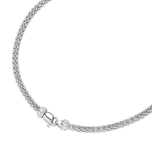 Smart Jewel Collier Himbeerkette, Zirkonia Steine, Silber 925 Silber, 45 Cm 925 Sterling Silber