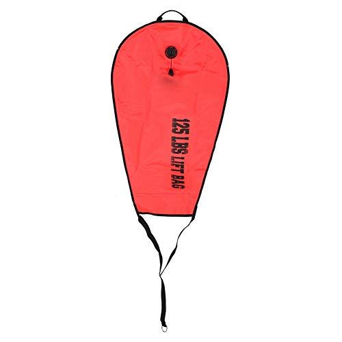 Keen so Bolsa de elevación de Buceo, Seguridad de Buceo 60LBS/125LBS Bolsa de elevación Válvula de Descarga Bombeo Snorkels Accesorio de Buceo para Rescate Tesoro de Rescate(125 LBS)