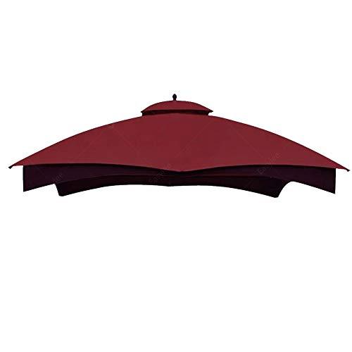 Hofzelt Outdoor Gazebo Replacement 10'x12' Canopy Soft-Top 2-Tier Patio Canvas Cover for Lowe's 10' x 12' Gazebo Model #GF-12S004BTO/GF-12S004B-1(Burgundy)
