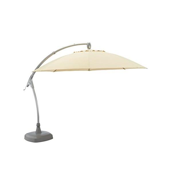 KETTLER Advantage Schirme easy-comfort Ampelschirm Durchmesser 330 cm, UPF 50+, inklusive Abdeckhaube, 0306233-0800…