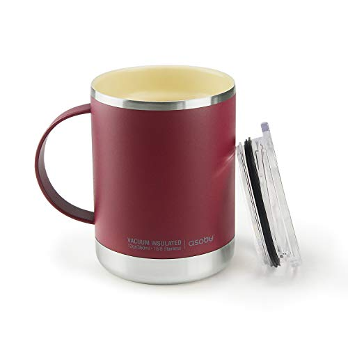 Asobu Ultimate Stainless Steel Ceramic Inner Coating Insulated Mug (Burgundy)