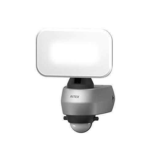 ムサシ(MUSASHI) センサーライト シルバー 本体サイズ:幅12.8×奥行11.8×高さ17.5cm 9WワイドLEDセンサーライト LED-AC309