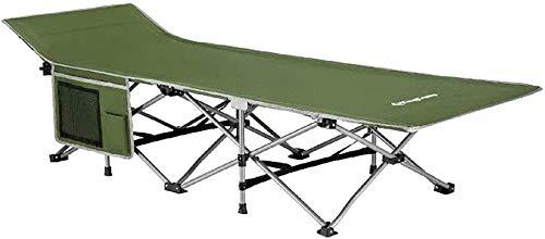 XZGDEN Ligero Silla Plegable de Camping Ligero, portátiles para niños de Doble Capa 600D Tubos de Grosor de la Tela, con la Tumbona de Bolsillo Lateral (Color : Green)