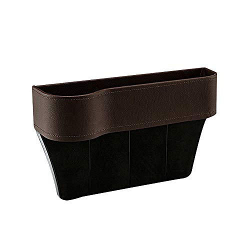 Iusun Car Seat Slit Crevice Pocket Storage Organizer Catch Catcher Holder Box,Fits Perfect Between Seat and Console No Need to Reinstall