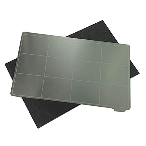 WZCXYX Lichtgehärtete Federstahlplatte Für 3D-Drucker, Flexible Elektromagnetische Stahlmembran, Abnehmbare Federstahlplatte(Size:102x59mm)
