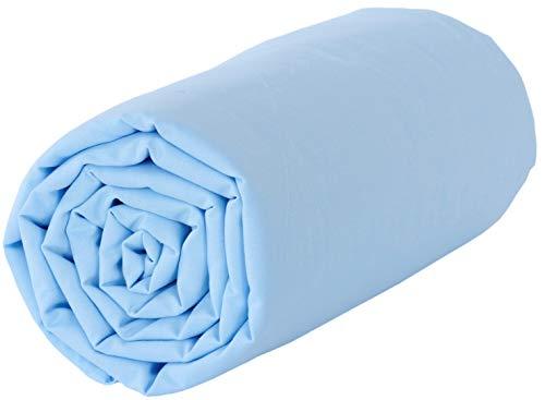 Drap en coton Baby Fox 118x180cm - Bleu layette