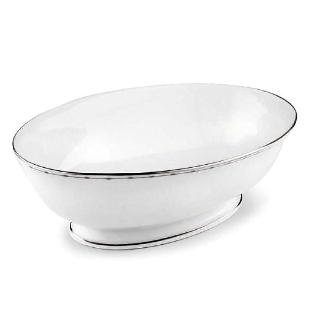 Lenox Grand Central Bone China Platinum Banded Open Vegetable Bowl